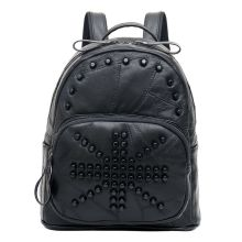 High-grade Women Backpack Rivet Leather Backpack Travel Backpacks for Teenage Girls Preppy Style Mochila Feminina Free Shipping
