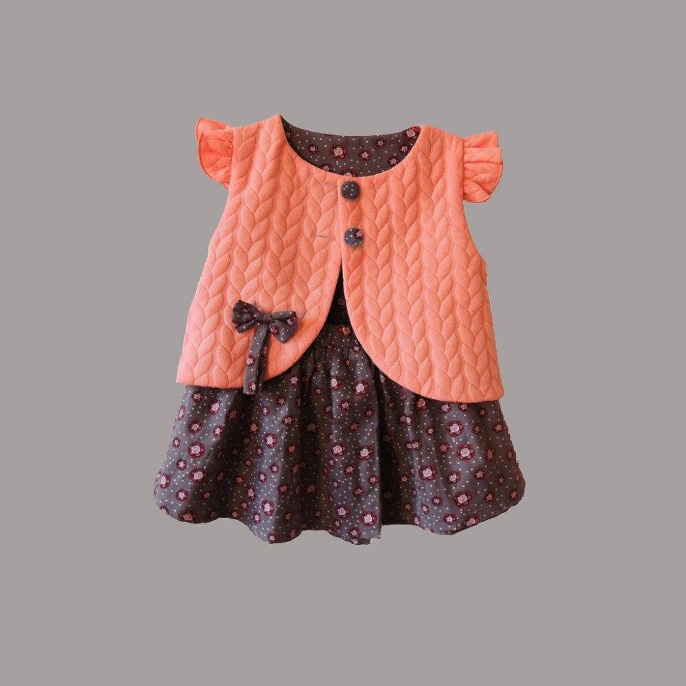 Baby Mädchen Kleidung Frühling Weibliche Baby Floral Weste Kleid - Kinderkleidung - Foto 2