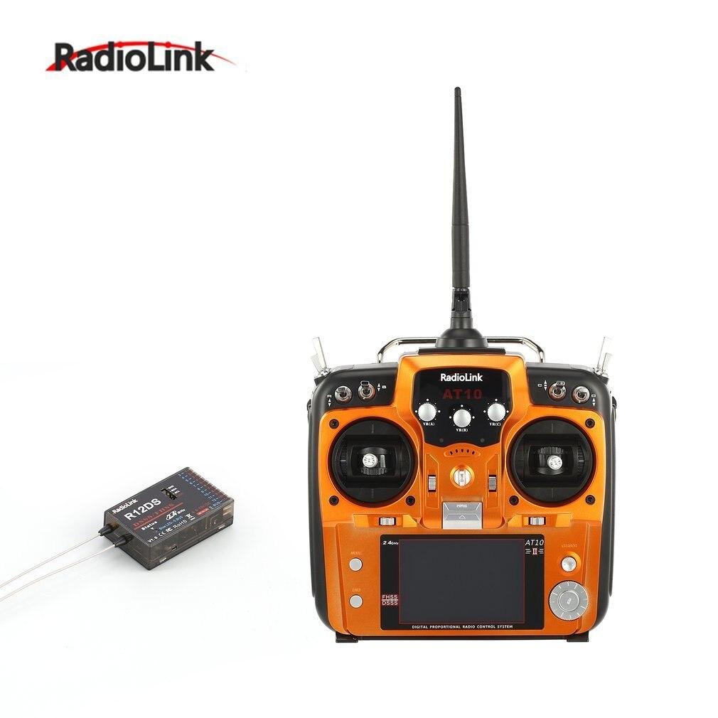 Radiolink AT10II 2.4G 12CH Émetteur télécommande avec R12DS Récepteur RPM-01 De Retour De Tension Module pour drone rc quadrirotor