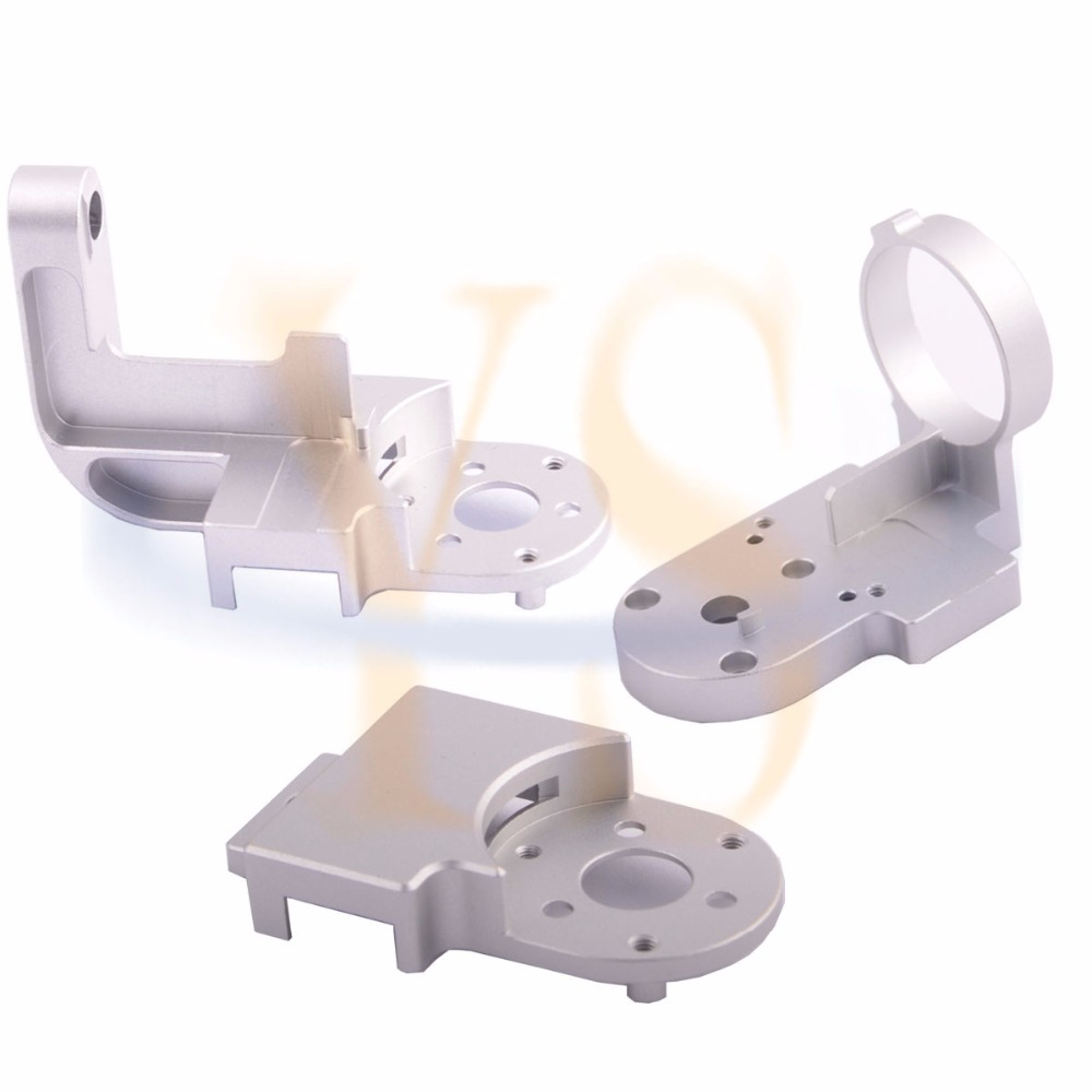 3pcs DJI Phantom 3 Gimbal Yaw Arm Roll & Cover Replacement  for Pro/Adv DIY kit HRC55 Aerometal  CNC Mill Aluminum Parts