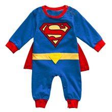 d987677e38a18 Bébé garçon barboteuse Superman manches courtes longues Halloween noël  Costume cadeau barboteuse filles été printemps