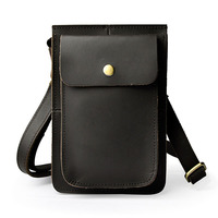 Brand Crazy Horse Cow Skin Genuine Leather Retro Men S Waist Fanny Pack Belt Bags Mobile