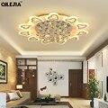 Современные светодиодные хрустальные люстры для гостиной акриловая хрустальная люстра освещение для дома светильники лампы AC110V 220V