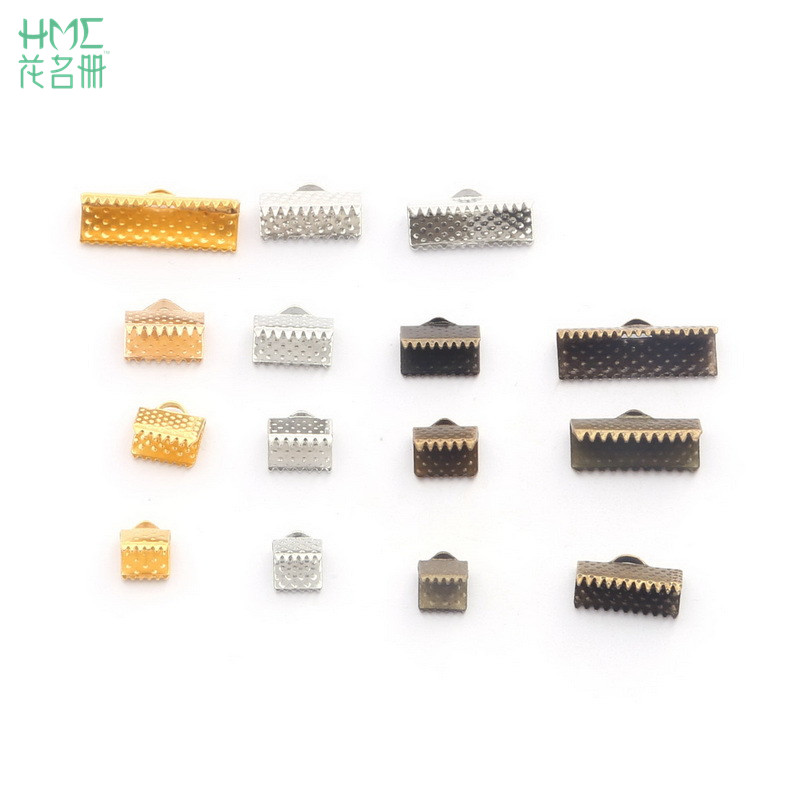 100-200pcs Cord Crimp End Beads Buckle Tips Clasp For Jewelry Making Necklace Bracelet Cords Connectors DIY Jewelry Findings