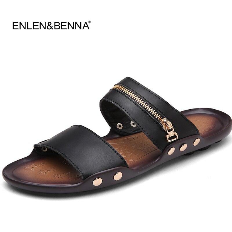 2018 Novo Design de Verão Sandálias Cool Men Estilo Britânico Flip Flops Sandálias de Praia Não-slide Chinelos Masculinos Sapatos Zapatos Hombre