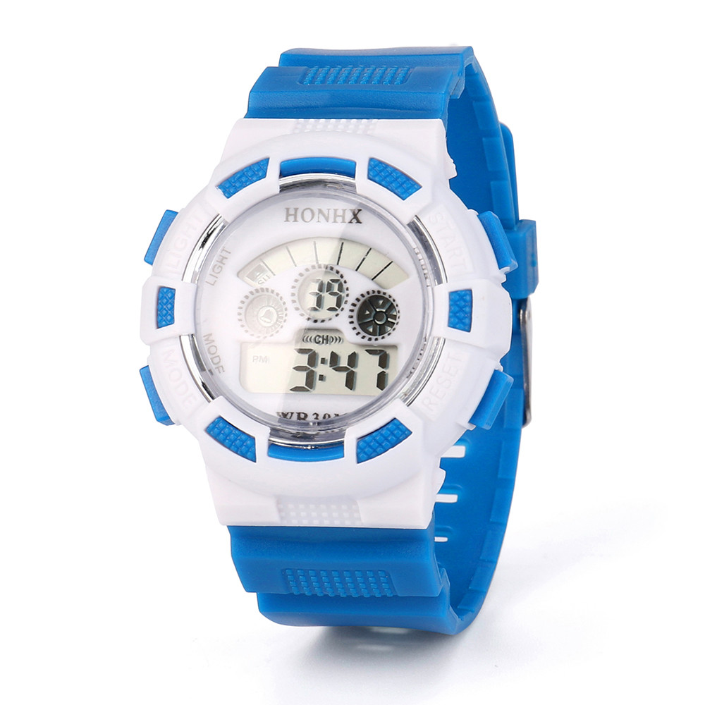 Aimecor Electronic Watch Digital Watch Square Silicone Girl Child Kid Sport Waterproof LED Light Analog Watch With Home Y1212