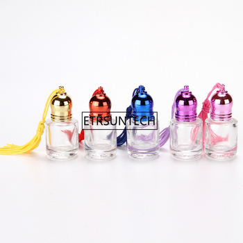 4ml Glass Essential Oil Roller Bottles With Roller Balls Aromatherapy Perfumes Lip Balms Roll On Bottles F1859
