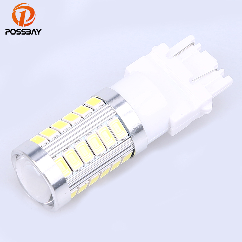 POSSBAY Car Light Universal Car T25 3157 SMD 33 LED Lights Accessories Signal Reverse Paking Daytime Running Lights 1Pcs 12V