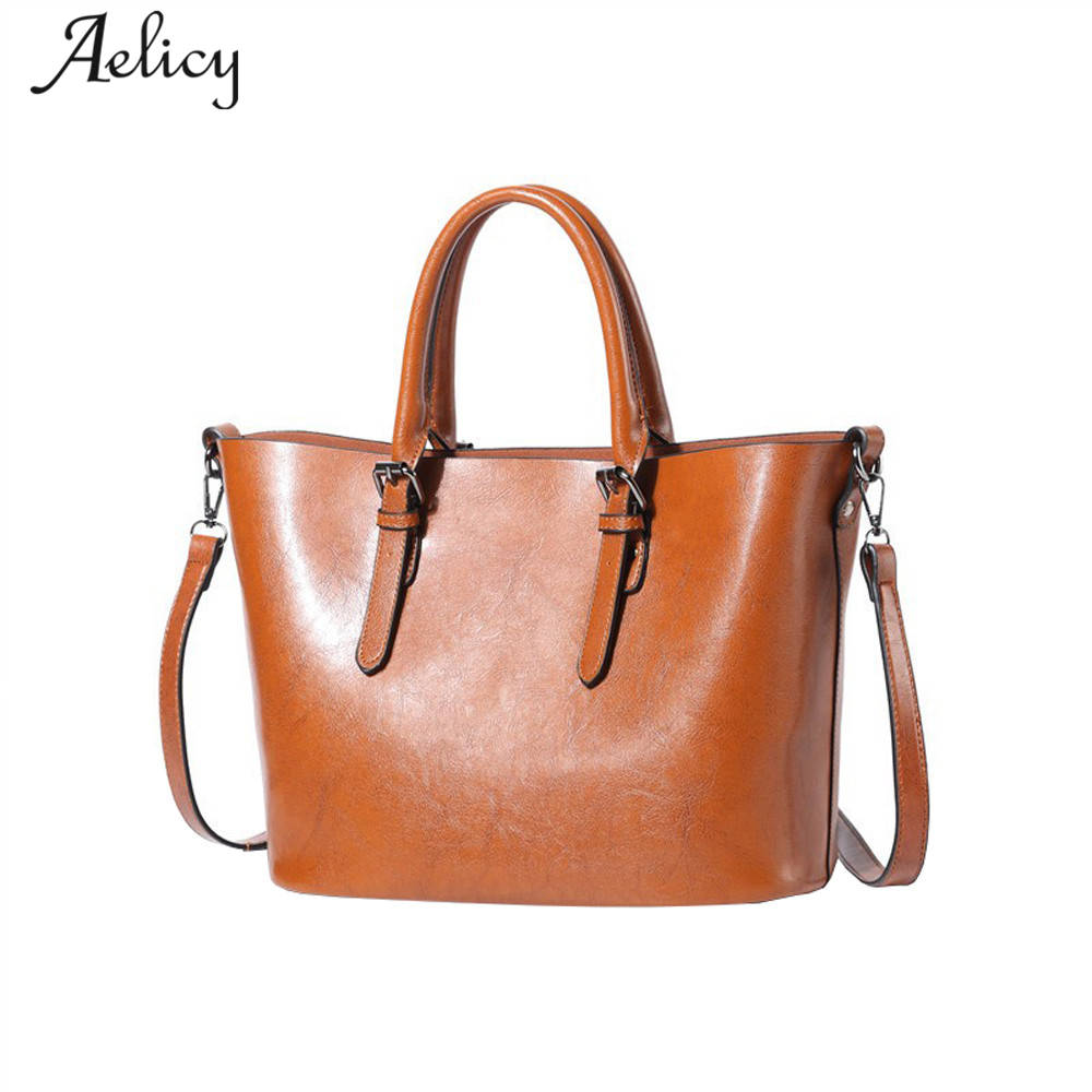 Aelicy Oil Wax Leather Large Capacity Totes Bags Handbags Women Famous Brands Leather Shoulder Bag Vintage Female bolsa feminina seven skin 2017 new fashion women handbags famous brands leather bags female large shoulder bags casual tote bag bolsa feminina