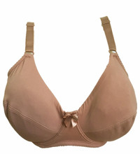 Plus size Underwired Non-padded Ultra thin Microfibre Full Coverage Big Cup Volumn Bra 85-110 E/F Cup Bra H189-2