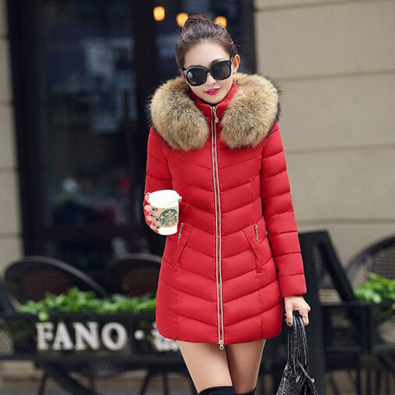 ФОТО Real Natural Raccon fur 2016 New Women's Winter Jacket Down cotton-padded jacket outerwear parkas for women winter female jacket