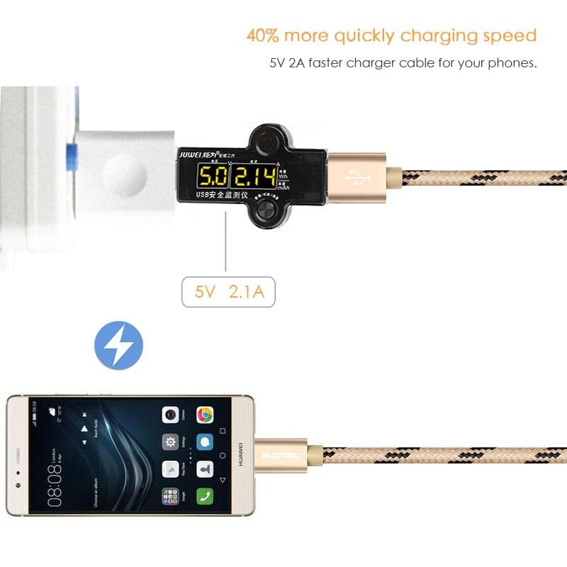 Καλώδιο δεδομένων SUPTEC USB Type C USB Type-C Fast - Ανταλλακτικά και αξεσουάρ κινητών τηλεφώνων - Φωτογραφία 5
