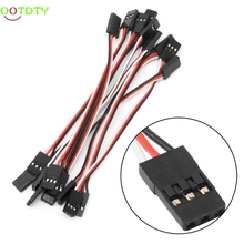 10Pcs 10cm Quadcopter Extension Servo Futaba Lead JR Male To Male Wire Cable RC Accessories For