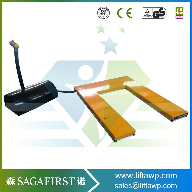 U shape stationary platform vehicle low-type electric scissor lift platform