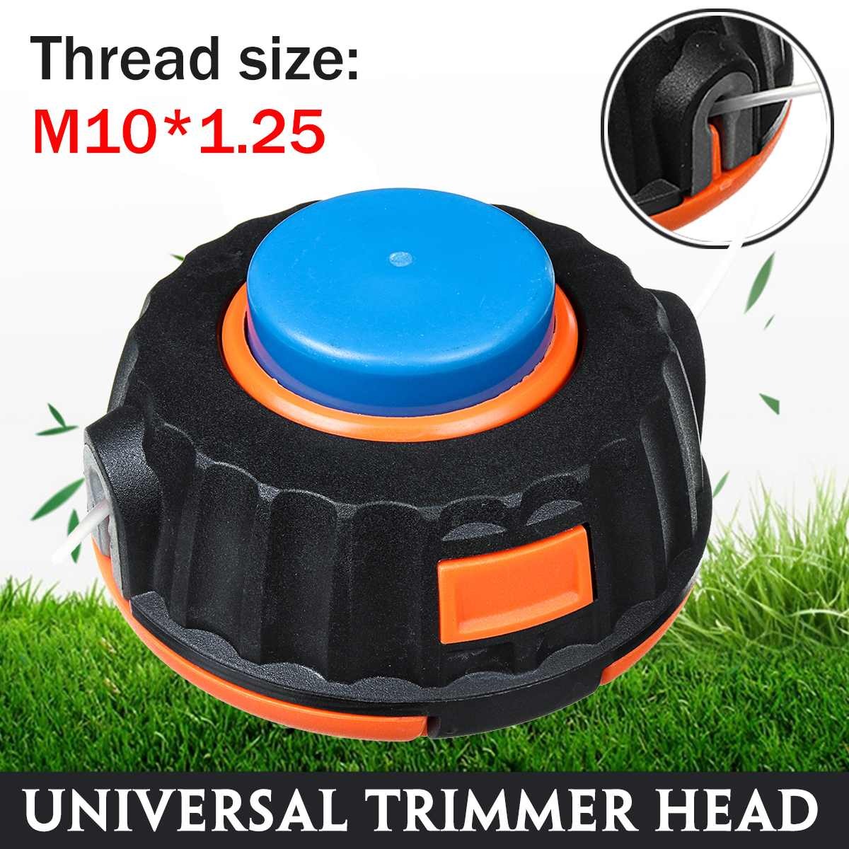 Blue Cap Universals M10 Grass Trimmer Head Strimmer Line Saw Grass Brush For Lawn Mower Cutter Accessories For Flymo McCulloch