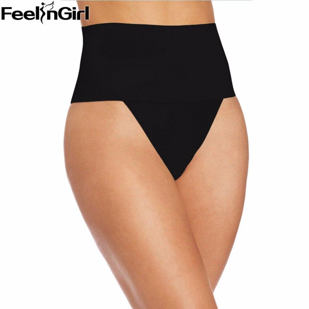 Feelingirl mujeres Shaper abdomen Control bragas desgaste forma tangas pero elevación que adelgaza la ropa interior correctiva para las mujeres A