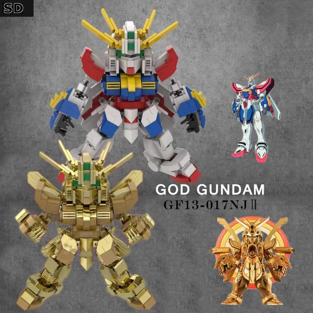 2018 Kennie New Arrive Personal diy  GOD gundam model Blocks building toys Action Figure for Creative children gifts