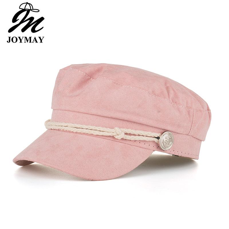 cd4a81c62 Details about AKIZON Military Hat Caps Beret Winter Hats For Women Men Pu  Leather Brim Wool