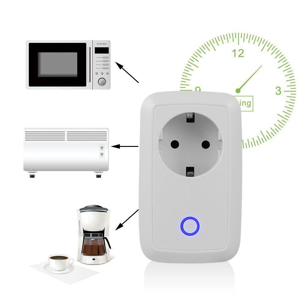 Wireless WiFi Intelligent Plug Potable Smart Power Socket EU US Plug Wifi Remote Control Switch 220V