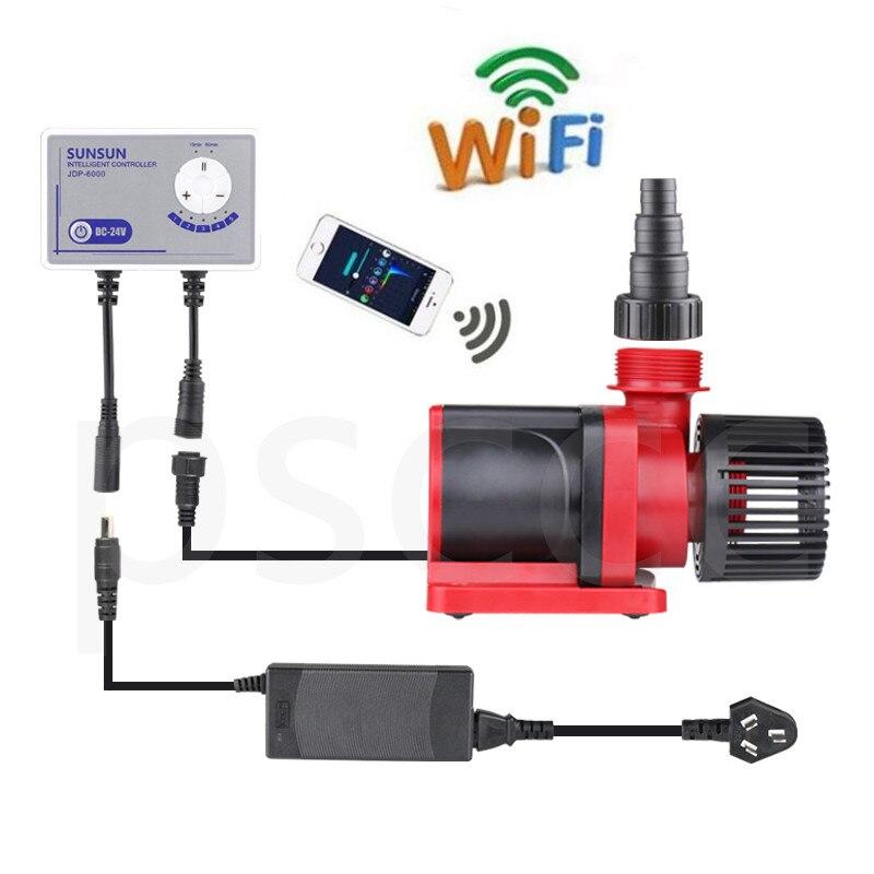 24 V 6000L/h SUNSUN JDP 6000Q WiFi sterowane DC pompa wody pompa do akwarium akwarium morskie rafy Koi staw/oczko wodne pompa obiegowa w Filtry i akcesoria od Dom i ogród na  Grupa 1