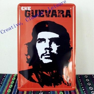Free shipping Ernesto Che Guevara Tin Sign Bar pub home Wall Decoration Retro Metal Art Poster 30x20cm