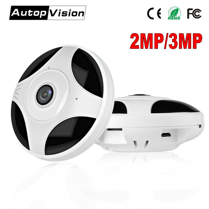 цена на HD 1080P 3MP 360 Degree Fisheye Panoramic Camera Wireless 3D VR Panorama HD IP Camera P2P Indoor Cam Security WiFi Camera