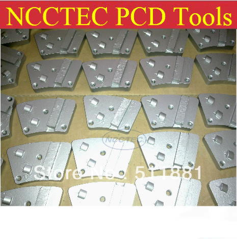 0 Profit! Clear Stock! PCD Disc PCD Shoes PCD Pad For Removing 1-3mm Epoxy Coatings | Grit 30#:36 Pcs, Grit 60#: 27 Pcs