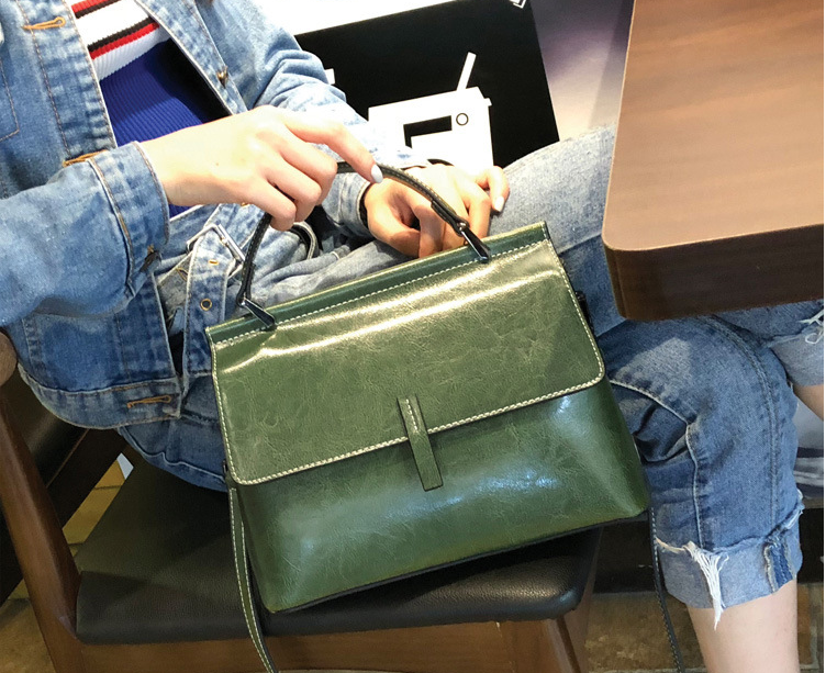 New Women Genuine Leather Briefcase Ladies Fashionable Elegant Cowhide Commuter Bags Exquisite All-match Big Bag Bolso D551