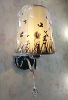 Chinese Modern Cloth Wall Lamp Home Bedroom Hotel Rooms