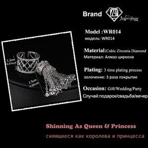 Image 2 - Женское кольцо с короной и кисточками, роскошное Королевское регулируемое кольцо с фианитом высшего качества, AR014