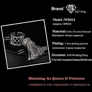 Image 2 - Anneaux de couronne de gland Royal de luxe pour les femmes avec la meilleure qualité cubique Zircon réglable anneau de gland bague femme AR014