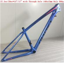 2018 New Full Carbon Fiber MTB Bike Frame 27.5er 650b / 29er in 15/17 with through Axle 148x12mm EPIC Model UD Weight 900g f cloud gepu gep vx5 through machine four axis carbon fiber through the rack x frame aluminum alloy keel structure