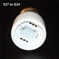 100% de alta calidad E27 a G24 retardante PBT Bombillas LED adaptador de luz convertidor e27 a g24 Base de lámpara LED