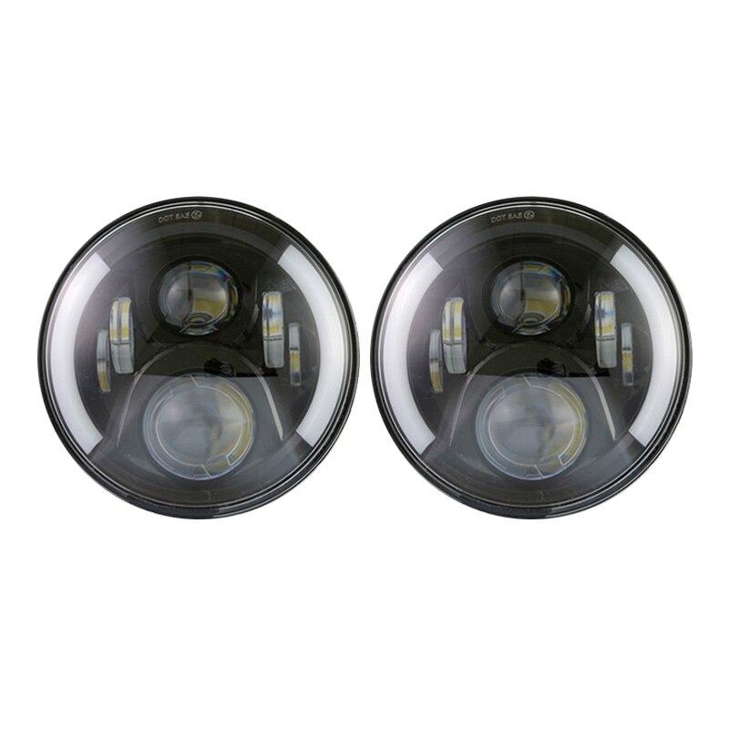 7inch Led Headlight for Lada 4x4 Niva UAZ GAZ Jeep H4 Hi Low Beam 7 inch