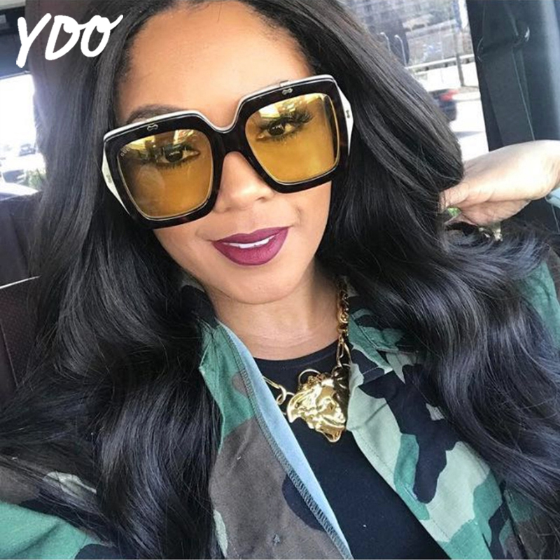 YDO New Square Sunglasses Women Fashion Flip Cover Frame Sun Glasses Oversize Shades UV400 Ladies Google Eyewear oculos de sol