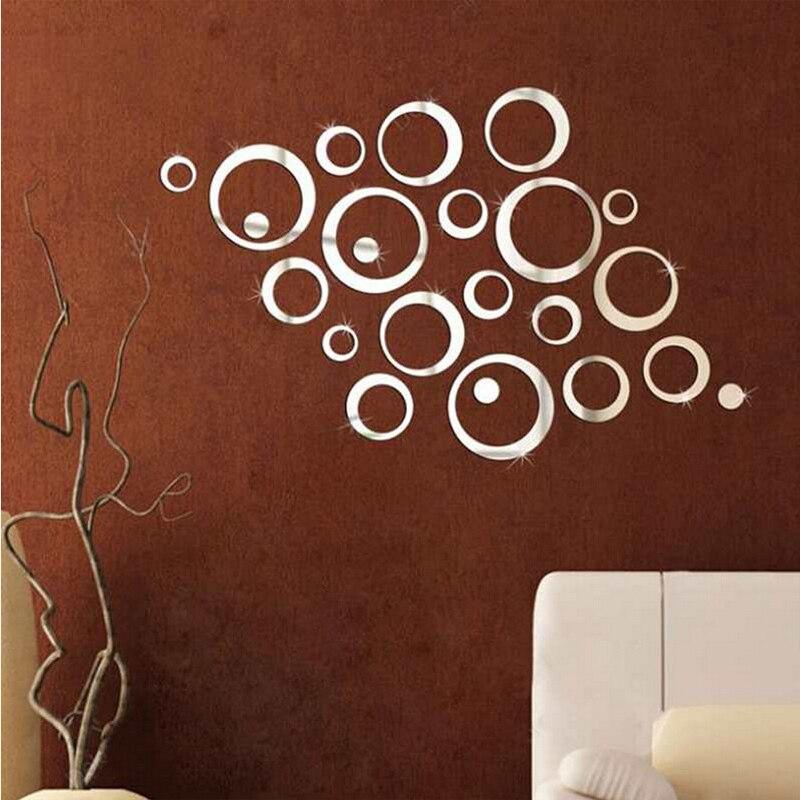 Yeni varış akrilik ayna 3d çıkartmalar yüzey duvar sticker diy - Ev Dekoru - Fotoğraf 5