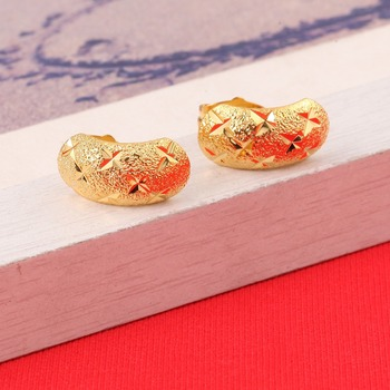 Wholesale Baby Earrings Gold Color Kids Earrings Fashion Jewelry Small Gold Earrings Ethiopian African Girls online shopping in pakistan with free home delivery