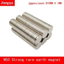 Оптовая продажа 100 шт. 10 мм x 1 мм N50 неодимовые магнитные материалы магнит мини-Small Round Disc N50 магнит украшения дома на холодильник