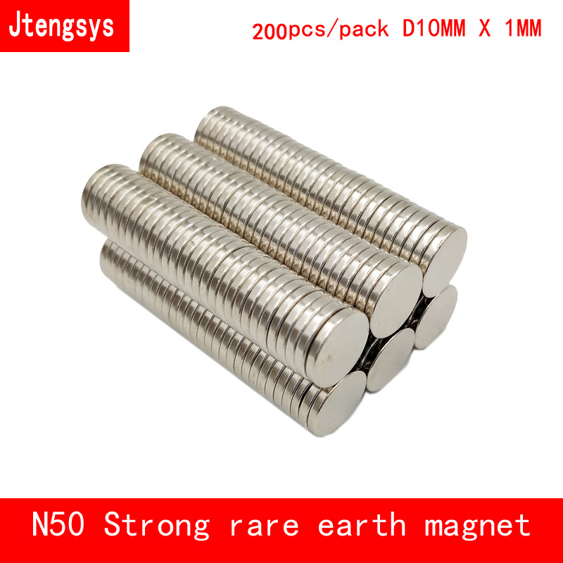 50 Magnets 10x5 mm Neodymium Disc strong round rare earth magnet 10mm dia x 5mm