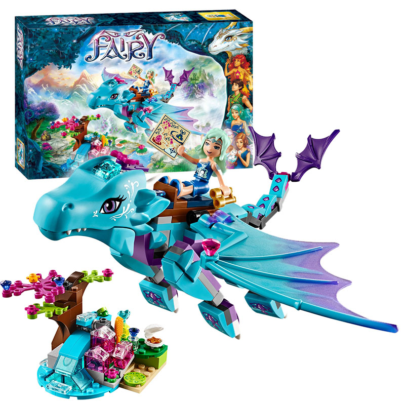 Bela 10500 Elves The Water Dragon Adventure building Blocks Bricks Toys for children Toys Compatible with Decool Lepin 41172 10551 elves ragana s magic shadow castle building blocks bricks toys for children toys compatible with lego gift kid set girls