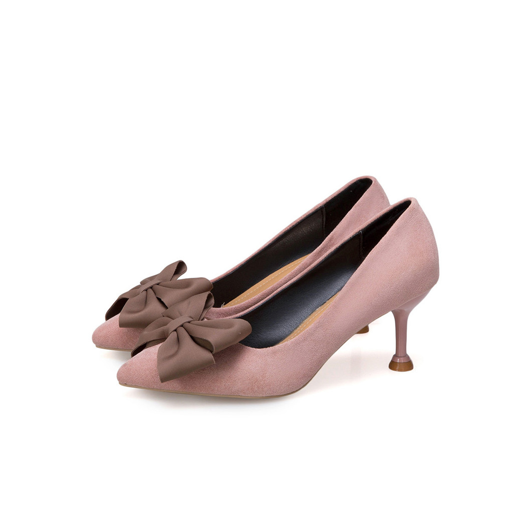Épais Mujer Chaussures Femmes Été pink De Haute Profonde Non Zapatos Pompes Arc Printemps Talons slip Femme black Sexy Peu Bout Mode Pointu Beige wdZHWx5q
