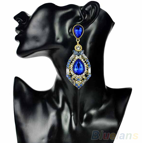 Women Earrings Luxury Elegant Faux Drop Rhinestone Vintage 00hh In From Jewelry Accessories On Aliexpress