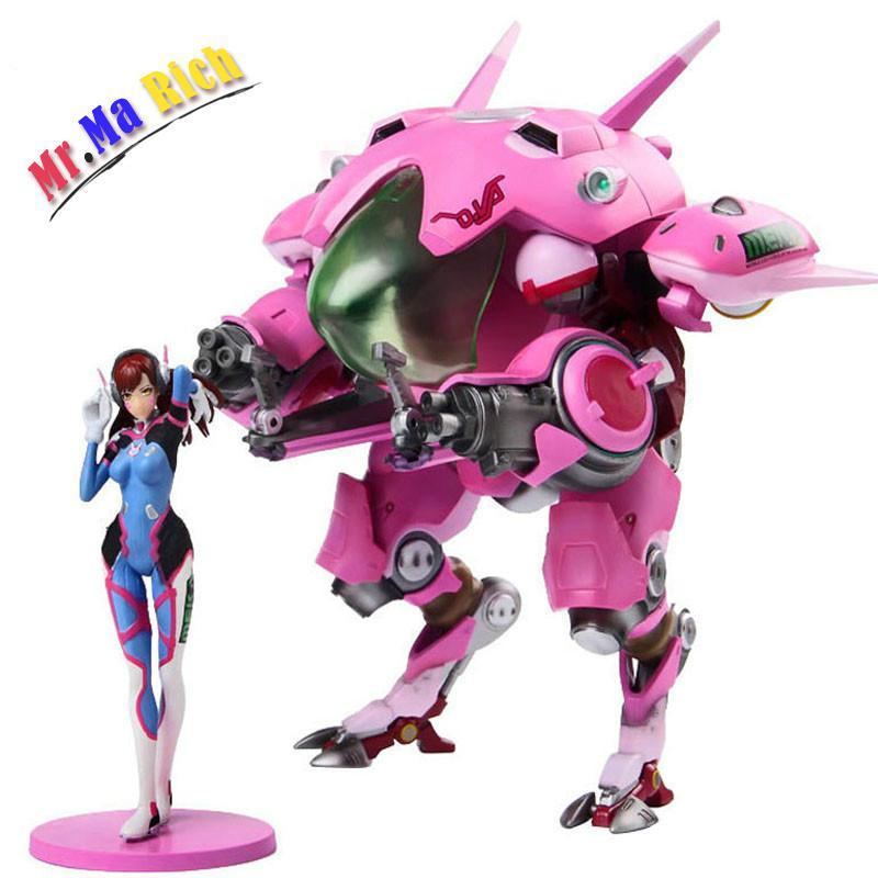 Ow Dva And Mecha Action Figure Model Kinderen Speelgoed Geschenken Collectie Tracer Pvc 23 Cm Game Figuur цена 2017