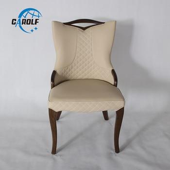 Silla de comedor de madera para restaurante sillas de comedor moderna silla  de cuero para comedor