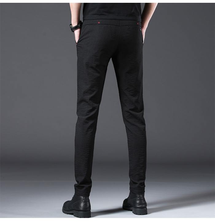 HTB15nsXR3HqK1RjSZFgq6y7JXXaU Jantour 2019 Fashion Men Pants Slim Fit Spring summer High Quality Business Flat Classic Full Length thin Casual Trousers male