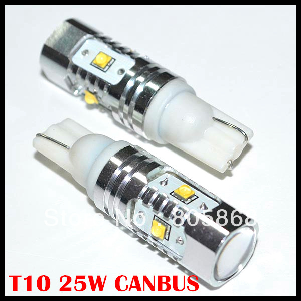 canbus T10 led 25w WEDGE car lamp Cree chips led 25w canbus Signal 25w W5W car light 194 w5w led canbus радиоприемник 25 hifi 25w