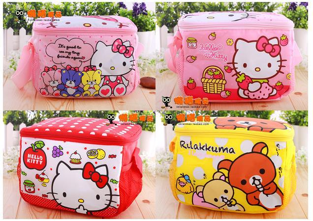 Free Shipping Children Cartoon Hello Kitty Thermal Printing Lunch Box Bag  Insulated Cooler Bag Picnic Dining Travel Tote Bag 7c8b58ce47f44