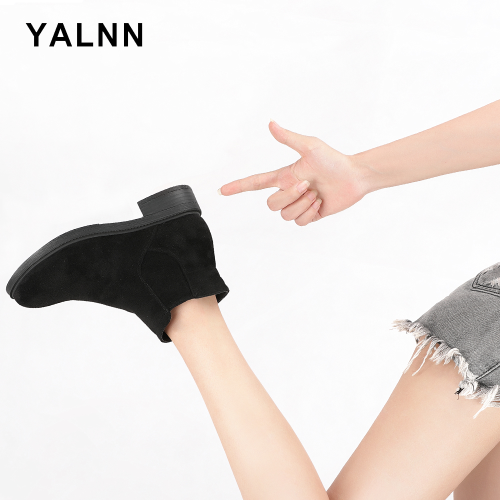 YALNN Shoes Winter Boots Women Ankle Casual 2018 Female Black/Brown Snow for