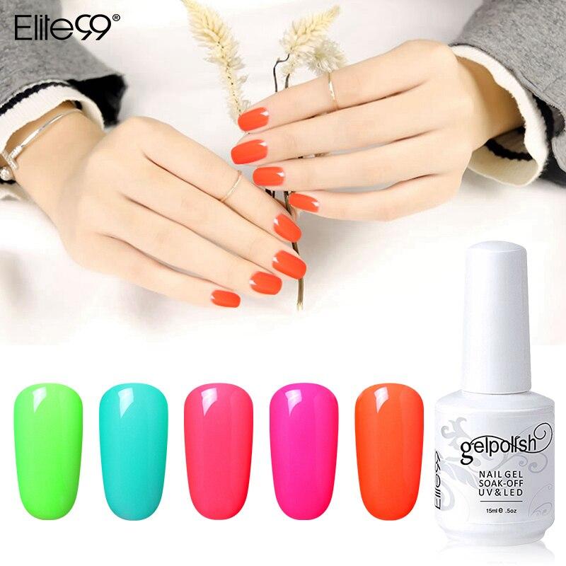 Elite99 Nail Polish Nail Art Gel Nail Polish Pure Solid Colors Soak ...