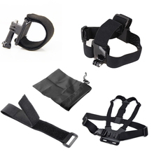 For Gopro Chest Belt+Head Band+Wrist Strap+Wif belt + Bags For Go pro Hero 1234 Hero4 For Xiaomi Yi SJCAM Wifi SJ4000 5000
